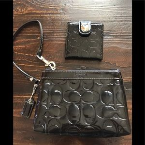 Coach Wristlet with Compact Mirror
